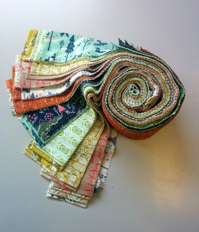 Tokyo Train Ride Jelly Roll Race Quilt Fabric