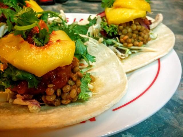 Salsa Verde Lentil Tacos