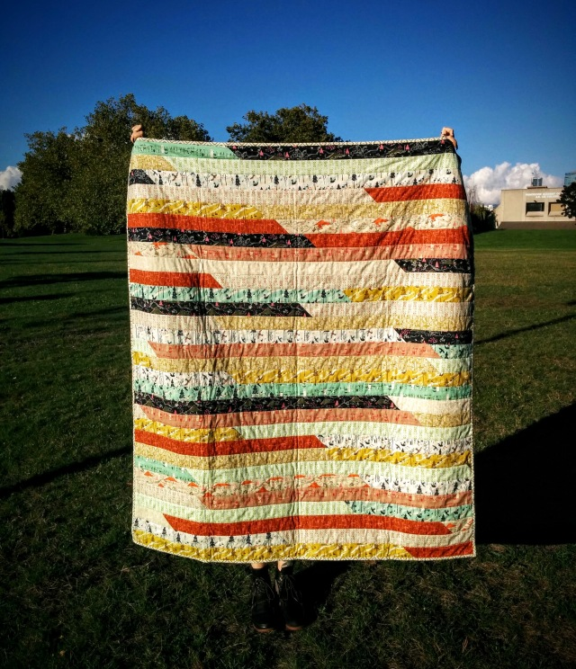 Tokyo Train Ride Jelly Roll Race Quilt