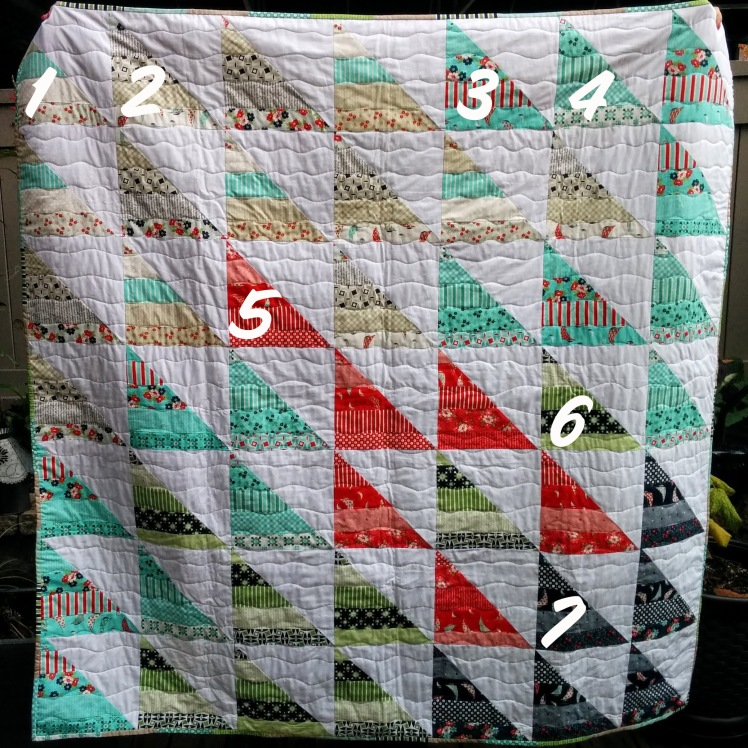 HST Jelly Roll Daysail quilt