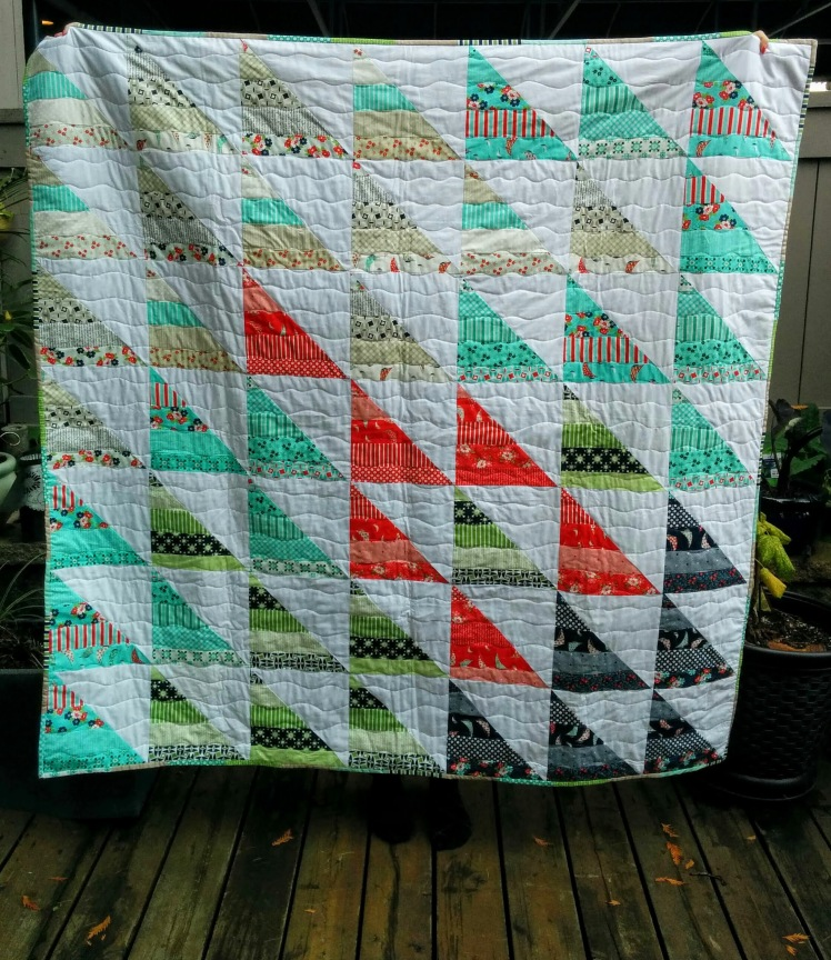 Half Square Triangle Day Sail Quilt