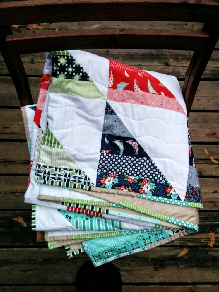 HST Jelly Roll Race Quilt